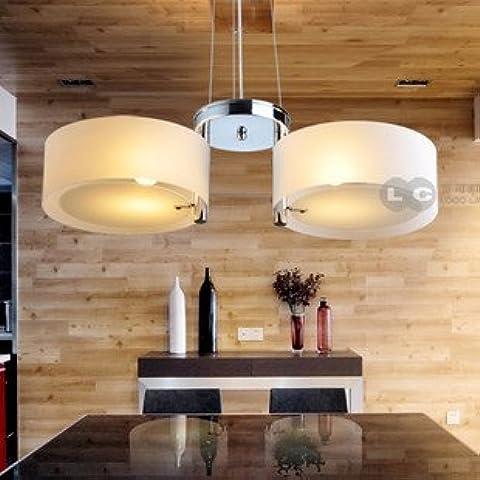 ANN luces contratado restaurante italiano Lámpara de diseño de lámpara de araña de cristal en forma de cubo para luces de comedor