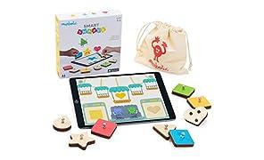 Marbotic - Smart Shapes - Jeu Éducatif - Jouets en Bois Interactifs pour Tablette Tactile iPad – App Gratuite Incluse 3+