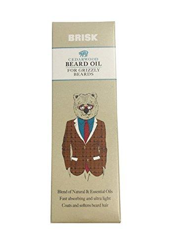 Brisk barba de madera de cedro aceite 50ml