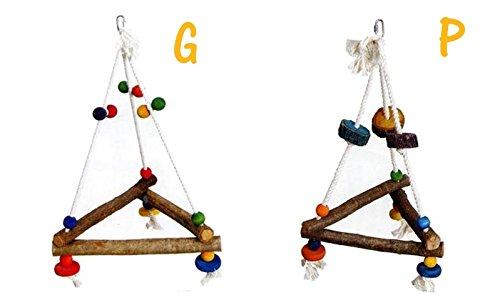 Triangolo in cotone - Altalena per uccelli