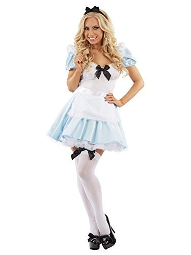 Damen Miss Teeparty Alice Kostüm - Blau, ()