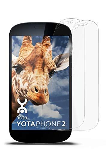 2X Yotaphone 2 | Schutzfolie Matt Bildschirm Schutz [Anti-Reflex] Screen Protector Fingerprint Handy-Folie Matte Bildschirmschutz-Folie für Yotaphone 2 Bildschirmfolie