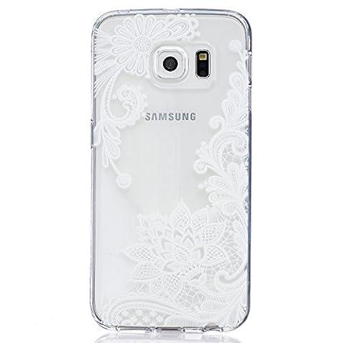 Coque Samsung Galaxy S6 Edge (5,1 Pouces), Cozy Hut Etui Ultra Mince Housse Silicone Transparent pour Samsung Galaxy S6 Edge (5,1 Pouces) Coque de Protection en TPU avec Absorption de Choc Bumper et Anti-Scratch - lis
