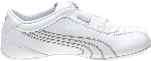 Puma Tallula Glamm LV Diamond Fashion Sneaker (Toddler/Little Kid/Big Kid) White/Puma Silver