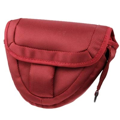 Easy Go Shopping Kamerazubehör Tragbare Digitalkamera-Stofftasche mit Gurt Kamerazubehör (Farbe : Scarlet red)