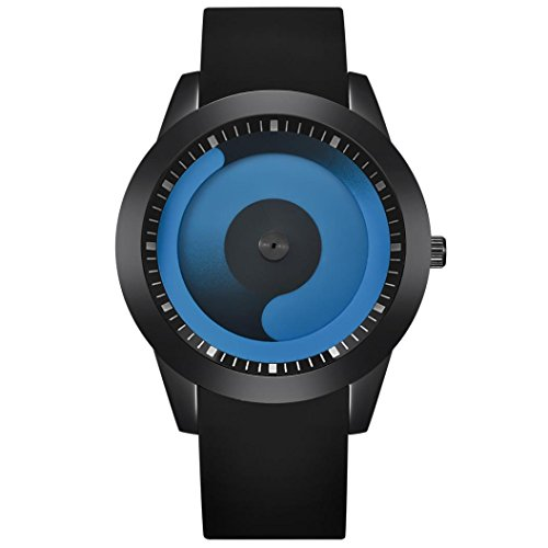 Sansee Personalisierte Mode Herren Luxus Edelstahl Analog Quarz Sport Business Armbanduhr (A) (Personalisierte Sport-geschenke)