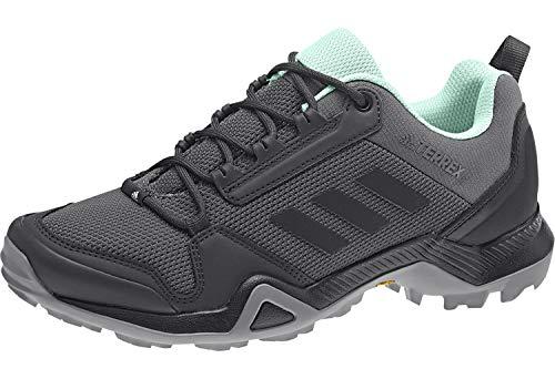 adidas Damen Terrex AX3 W Traillaufschuhe, Mehrfarbig (Grey Five/Core Black/Clear Mint Bc0567), 42 EU