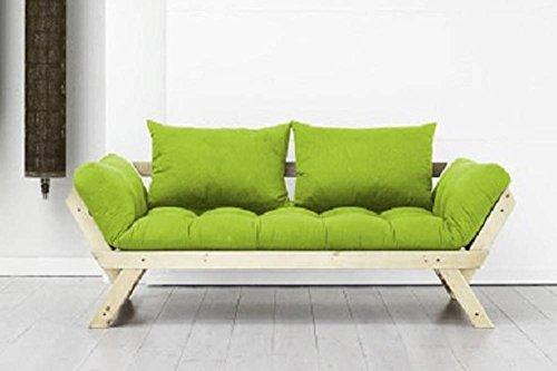 Sitzbank-Ottomane-skandinavischer-Stil-Futon-Lime-Bebop-Schlafsack-75-200-cm