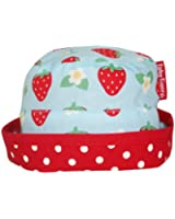 Toby Tiger Baby Girl's Reversible Tie Sunhat Strawberry