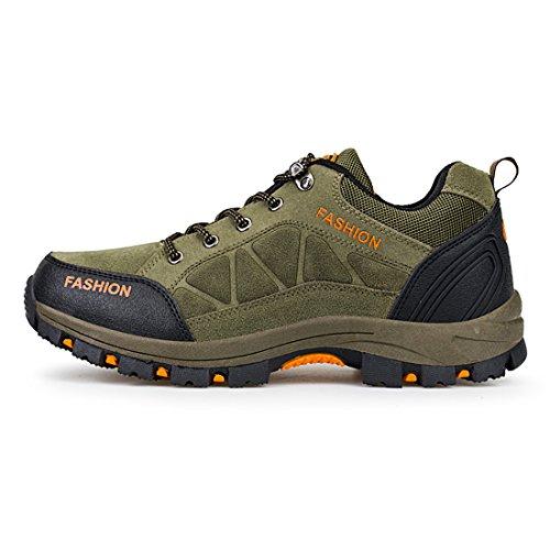 Klettern Trekking Männer Turnschuhe Schuheussures et souliers imperméables Grün