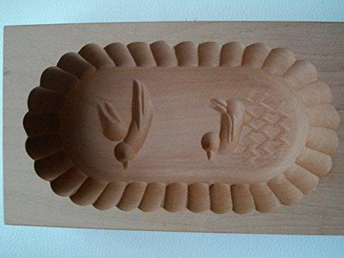 benwunder Butterform, eckig, 250 Gramm, Fliegender Vogel und Ente, Birnbaum