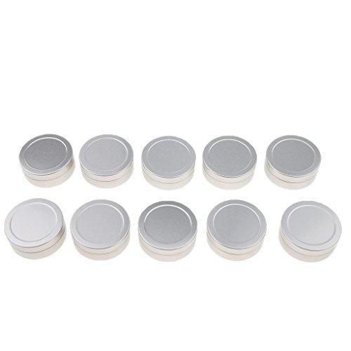 D DOLITY Pot en aluminium, 10 Pcs 25 Ml boîtes cosmétiques Conteneurs rondes avec couvercle pour cosmétiques, baume, bougie, Crème, stockage de voyage