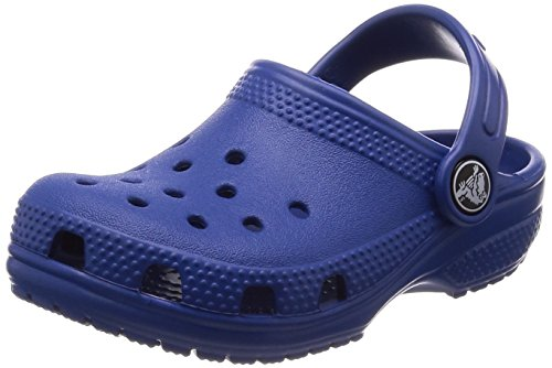 Crocs classic clog, zoccoli unisex-bambini, blu (blue jean 4gx), 25/26 eu