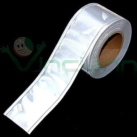 Nastro riflettente PVC rotolo catarifragente 1MT fluorescente ARGENTO per cucire