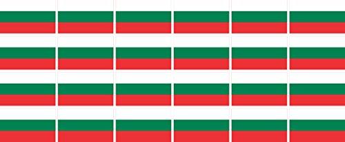 n Set glatt - 33x20mm - selbstklebender Aufkleber - Bulgarien - Sticker fürs Büro, Schule und zu Hause - 24 Stück ()