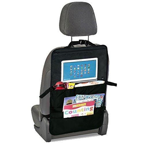 Auto-Rücksitz Organizer & Sitzschoner mit Tablet Halter für Kinder, vielfältiger Rückenlehnen-Schutz für mehr Ordnung im Auto mit Touch Screen Tablet-Fach oder DVD Halterung & 5 Taschen