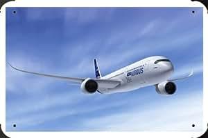 Airbus A350 Metal Poster enseigne marque 40x60cm