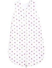 Odenwälder Basic Jersey-Schlafsack Sommer Dreiecke pink