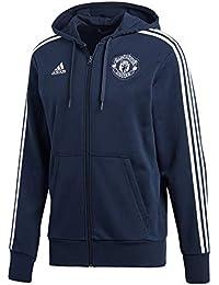 adidas MUFC 3S FZ HD - Chaqueta Manchester United FC, Hombre, Azul(Maruni