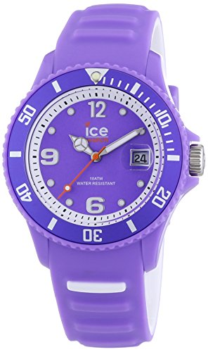 Ice-Watch Unisex Analogue Purple Dial Purple Silicone Strap – Quartz – neon purple – Unisex – Wristwatch – Ice-Sunshine Sun. NVT. U.S.14