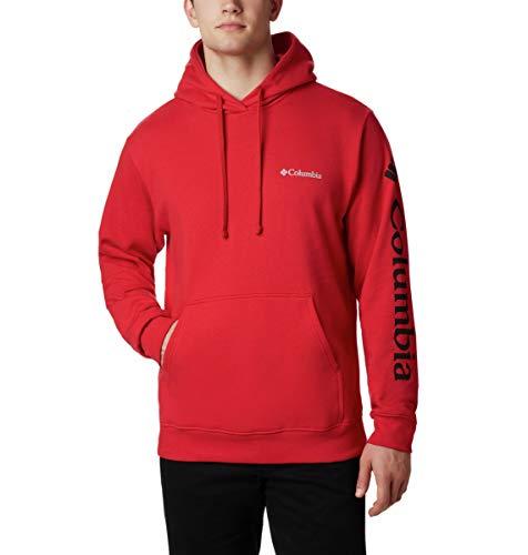 Columbia Herren Viewmont II Sleeve Graphic Hoodie Kapuzenpulli, Mountain Red, Groß -