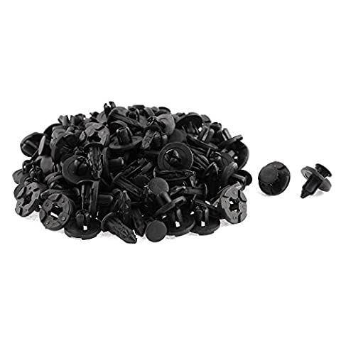100 Pcs plastique noir Rivet Bumper Doublure de moulage Clips pour Nissan Teana Tiida