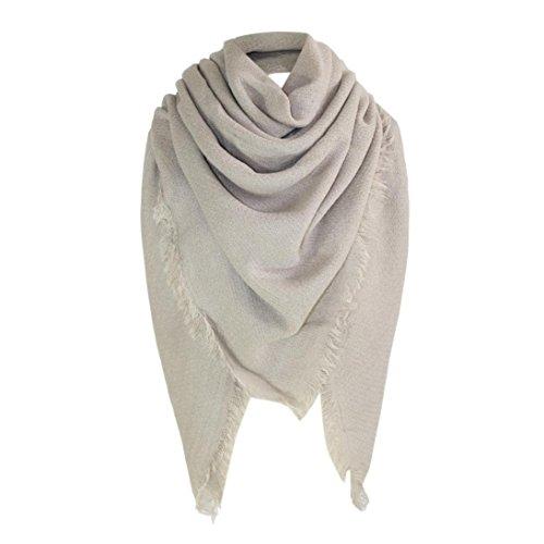 Malloom Femme Echarpe Longue enveloppe en coton doux