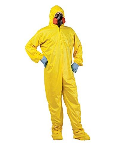 Kostüm Hazmat Breaking Bad - Breaking Bad Gelb Hazmat Suit Erwachsene Kostüm Walter White Heisenberg Jesse, Gelb, 52-07-00-01