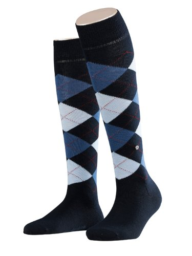 Burlington Damen Kniestrümpfe Marylebone, Gr. 36/41, blau (dark navy 6375)