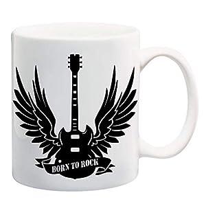 Bedruckte Tasse Gitarre mit Flügeln