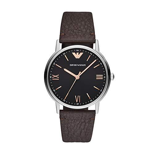 Emporio Armani Herren Analog Quarz Uhr mit Leder Armband AR11153 Emporio Armani Hüte