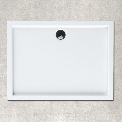 Plato ducha acrílico. 120x76x3,5 cm. Blanco.Incluye Válvula de 90