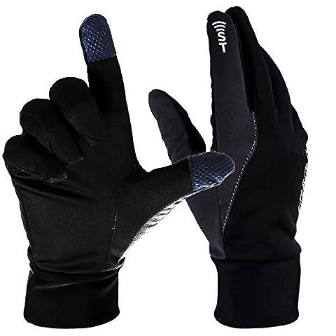 OZERO Winter Sports Touchscreen Gloves Warm (Black, Large)