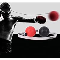 Boxing Reflex Ball on String 2 Difficulty Speed Balls,Fight Ball Trainer with Silicone Headband,Home Gym Boxing Equipmentfor MMA Training,Punching Exercise,Speed Reactions