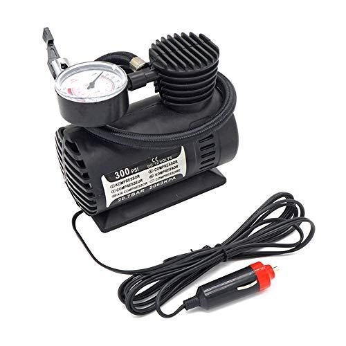 Renxiarx Auto-Reifen-Inflator, Gummireifen-Digital-Gummireifen-Pumpe Tragbare 12V Auto-Luftverdichter Mit LCD-Schirm-Auto-Luftpumpe 300 PSI Für Auto, Fahrrad, Motorrad, Ball