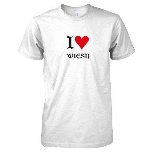 TEXLAB - I love Wiesn - Herren T-Shirt Weiß