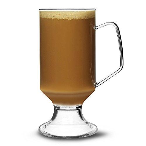 Elite Tasse à Café Polycarbonate 8 oz/230 ml-Lot de 18–Tasse à café réutilisable en plastique avec poignée
