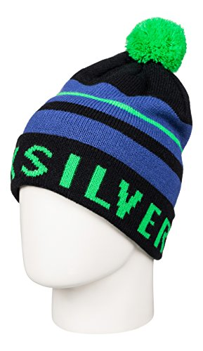 Quiksilver Summit Beanie - Gorro con pompón para Hombre, Color Verde, Talla única