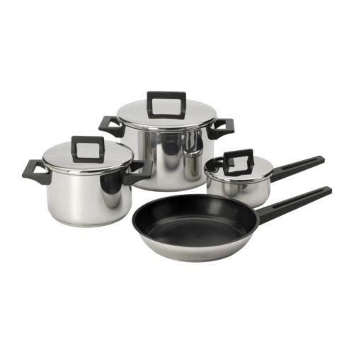 SNITSIG-7-teilig Kochgeschirr Set Edelstahl (Non-stick-grill-wok)
