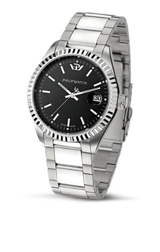 caribe-gent-3h-ss-black-dial-br
