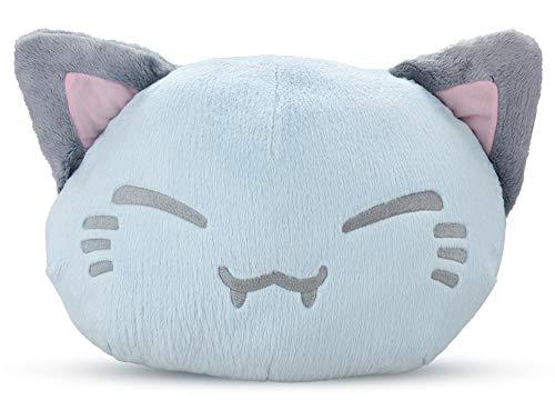 Meralens Funnylens rosa pink Nemu Nemo Neko Kuscheltier Katze - Manga Anime Otaku Kawaii Stofftier - Plüschtier Plush Cat Katze Merchandise zum Kuscheln Original aus Japan Höhe 25cm und Breite 34cm