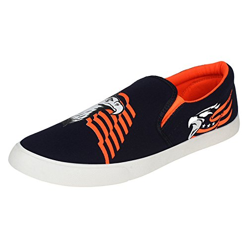 World Wear Footwear Men's Canvas Black Loafers & Mocassins Casual Shoes-9  available at amazon for Rs.198