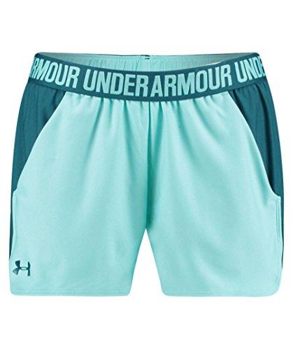 Under Armour Damen Play Up Shorts 2 Kurze Hose, blau(Tropical Tide / Tourmaline Teal / Tourmaline Teal (425)), M - Damen-warm-up-hose