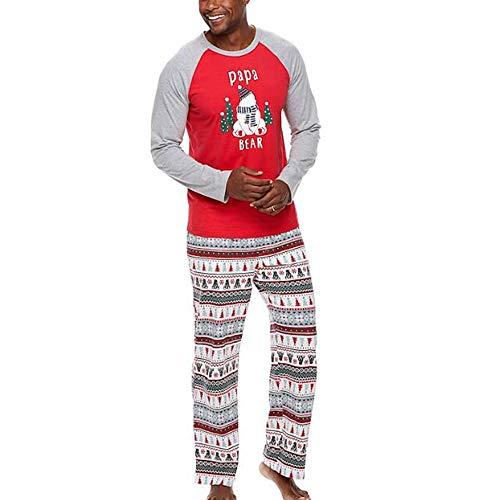 Mama Und Papa Kinder Langarm Pyjamas Hosen Weihnachten Familie Passende Kleidung Niedlichen Cartoon Print Pyjamas Set