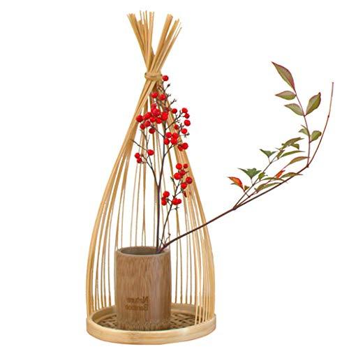Jarrones Contenedor Joyería Adornos Hogar Natural Cola De Caballo Flor No Legado Bambú Salón De Té Mesa De Té Decoración Arreglo Floral Regalo con Tubo De Bambú