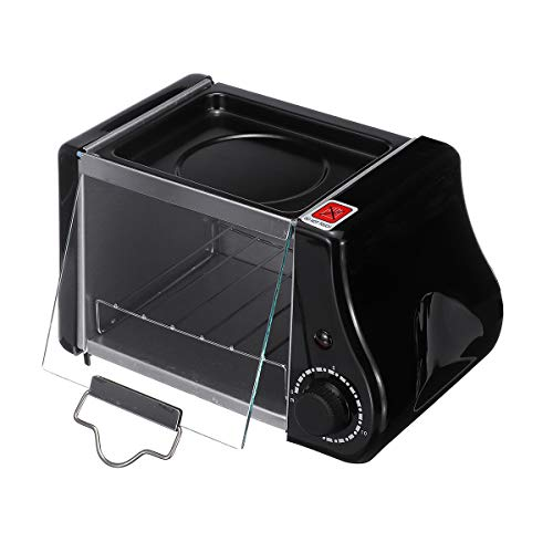 YHSFC 2ST-Backen-Wannen 1.5L Mini Toaster Brot Elektro-Ofen Backen Bratpfanne Eier Omelette Küche Pizzas Brot Fries-Kuchen
