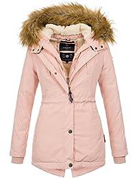 dede1bdd349b6a Marikoo Designer Damen Winter Parka warme Winterjacke Mantel Jacke B601