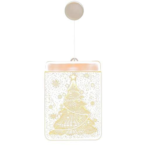 Yusell Dekorative Weihnachtslaterne LED Batterie Licht Bell Deer Light String Acryl Schneeflocke Element (D)