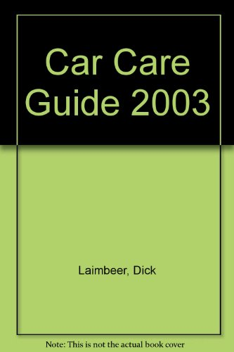 Car Care Guide 2003