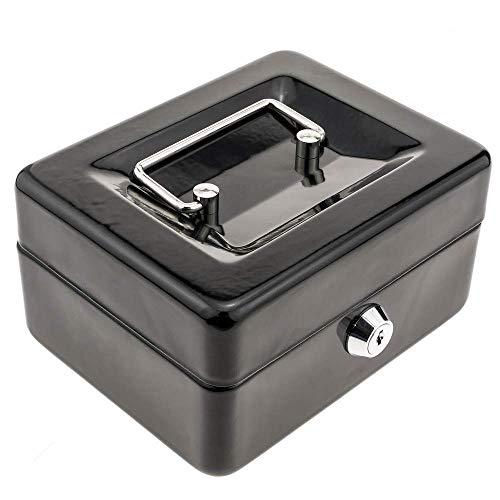 PrimeMatik - Caja Fuerte portátil para Dinero caudales Billetes y Monedas 150 x 117 x 80 mm